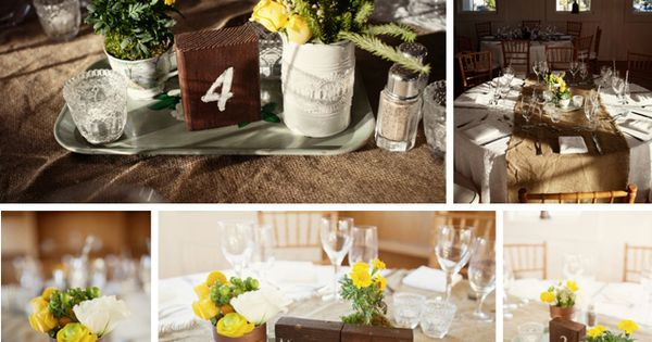 Fall rustic themed wedding decor - photo by Ruth Anne ...