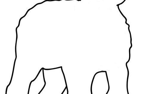 Sheep Outline For Books, Templates, Easter