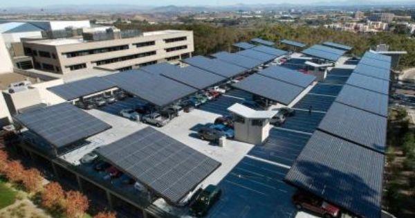 Parking Lots Could Become Solar Groves W Video Parques Estacionamento Energia