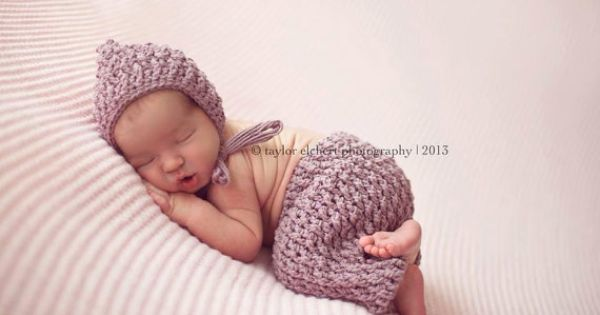 Crochet Stitches Multiples : Set of 2 Crochet Patterns for Ripple Stitch Pixie Bonnet Hat and ...
