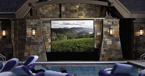 Home theater outdoor pool TV cool idea garden design