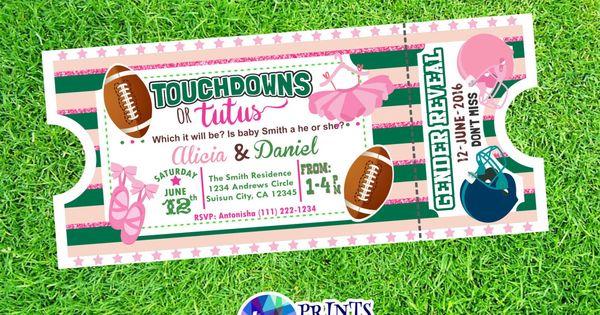 Touchdowns or tutus   invites!   Pinterest   Tutu, Gender ...