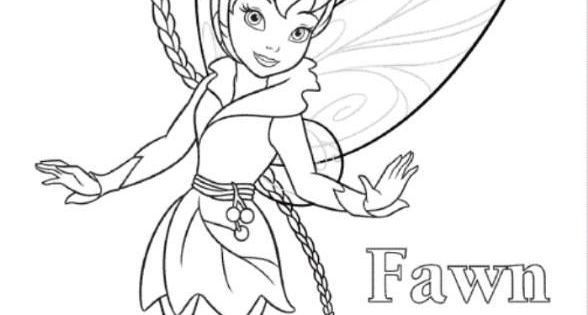 Disney fairies coloring pages fawn hall ~ Fawn Tinkerbell Coloring Page | kleurplaten | Pinterest ...