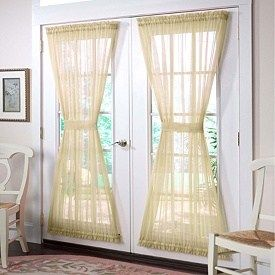 Needed Curtains For My French Doors Jendela Pintu Kafe