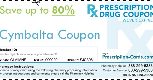 Duloxetine discount coupons