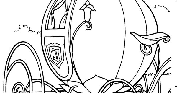 cinderellas pumpkin carriage coloring pages - photo#26