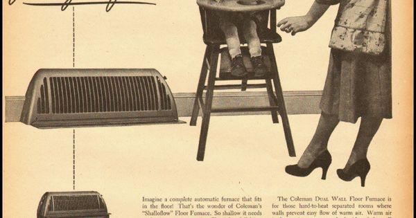 1951 vintage ad for Coleman Floor Furnace 032412
