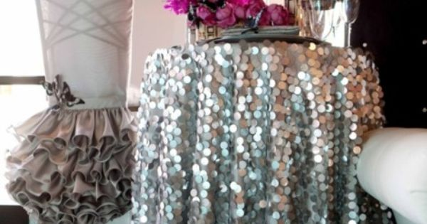 sequin tablecloth.