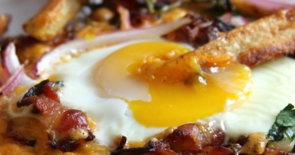 Bacon, Egg, and Cheese Breakfast Chili Fries | Bacon egg ...