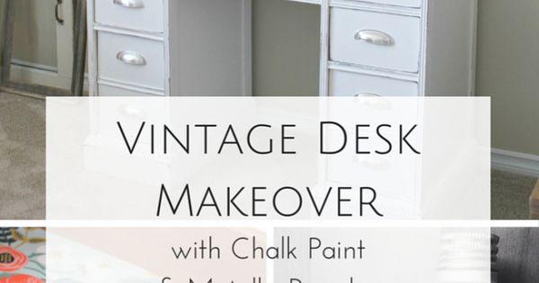 the story of greatness a vintage desk makeover vintage. Black Bedroom Furniture Sets. Home Design Ideas