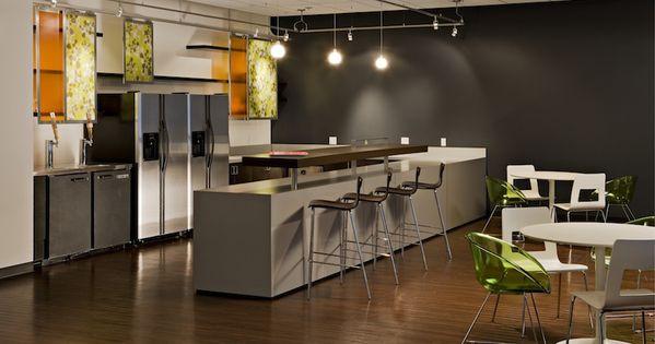 Multi Purpose Break Room With Dark Gray Accent Wall