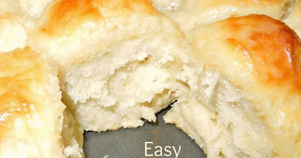 Easy No Knead Yeast Rolls | Recipe | Pastries, Bread recipes and Roll recipe