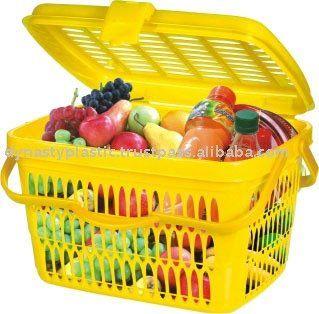 Plastic Baskets With Lids And Handles Plastic Basket Plastic