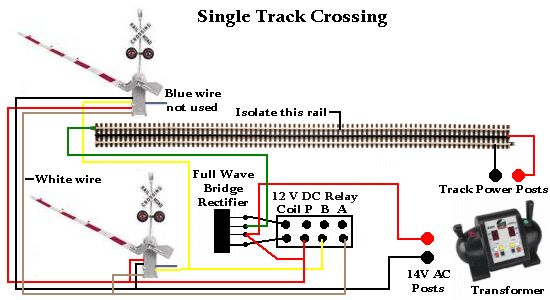 rr track wiring railroad crossing gates with signal single track track