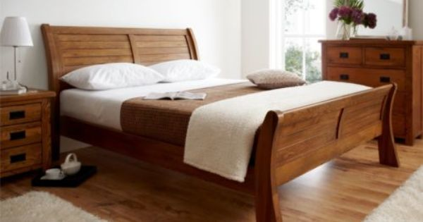 Normandy Oak Sleigh Bed King Size Bed Frame Only Ebay Wooden