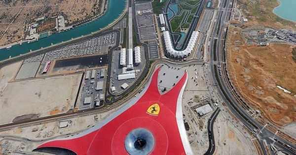 Ferrari World in Abu Dhabi, place of the world's fastest roller coaster