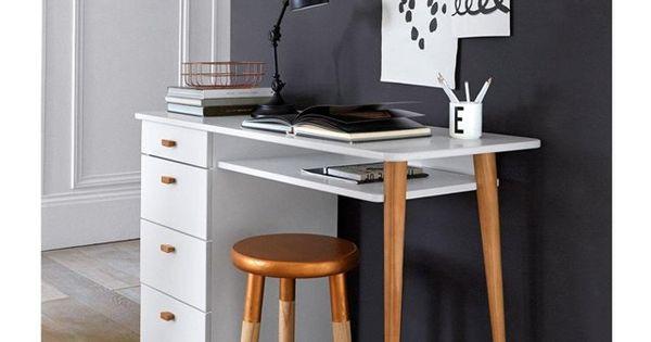 Bureau 4 tiroirs jimi agr able le quotidien et bureau for Bureau 1 tiroir jimi