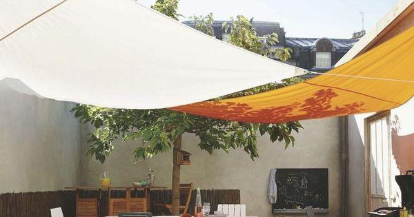 voile d 39 ombrage rectangulaire triangulaire carr e pour jardin et terrasse ombrage voile et. Black Bedroom Furniture Sets. Home Design Ideas