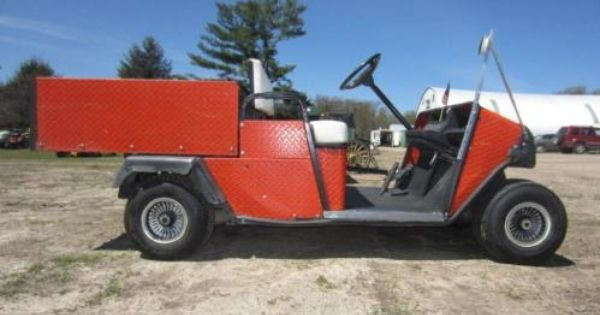 Jacobsen Model 810 Gasoline Powered Yard Cart With Manual Steel Dump Bed Example Of An Auction Item Sold Online By Hanse Yard Cart Prairie Farm Selling Online