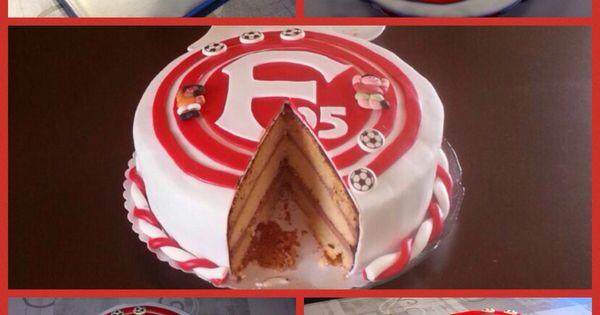 Fortuna Düsseldorf Fondant Torte, Wunderkuchen mit Schoko ...