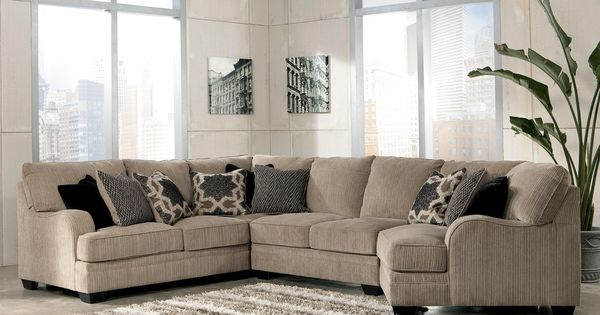 Katisha Platinum 4 Piece Sectional Sofa With Right Cuddler By Signature Design By Ashley