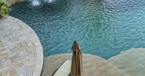 die stein höhle und wasserfall am anderen ende dieser pool für, Hause und garten