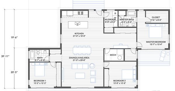 Shipping Container Garage Floor Plan: Blu Homes Balance Floorplan 3 Bedroom
