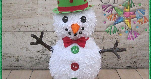 Snowman Pinata Pinata De Pocoyo Pinatas Originales Navidenas Pinatas Navidad