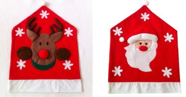 Copri sedia per natale renna e babbo natale coprisedia - Coprisedia natalizi ...