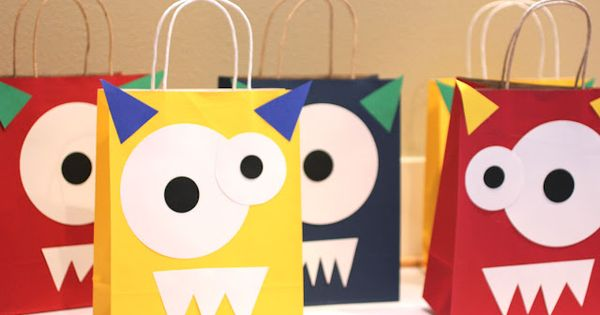 Monster Goodie Bags - great birthday party activity or craft for a
