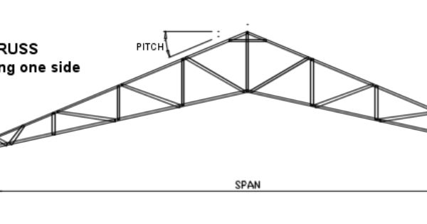 steel scissor truss with overhang
