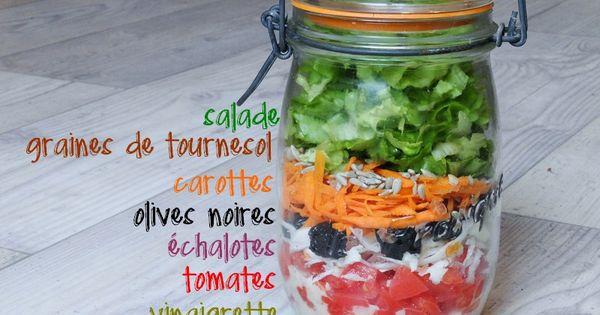 salade compl te en bocal emporter pots et salade. Black Bedroom Furniture Sets. Home Design Ideas
