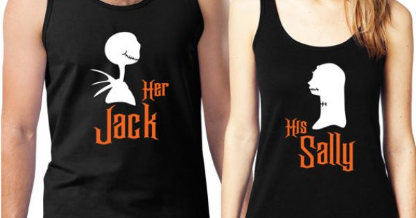 Personalized Couples Nightmare Before Christmas Tanks / Customized Couples Disney Shirts /