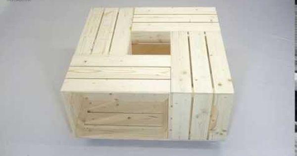 fabriquer une table basse avec des caisses de vin caisses de vin caisse et table basse. Black Bedroom Furniture Sets. Home Design Ideas