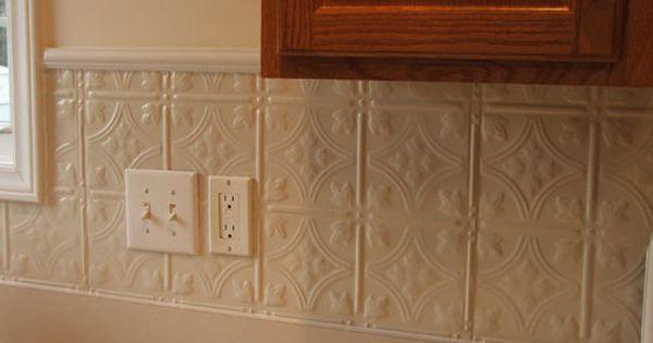 Creamy White Granite Tin Backsplash In 3 Pattern 12 Tin
