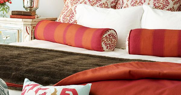 Simple Ways to Mix Patterns--BHG.com Censational Girl Color Palette for Master Bedroom