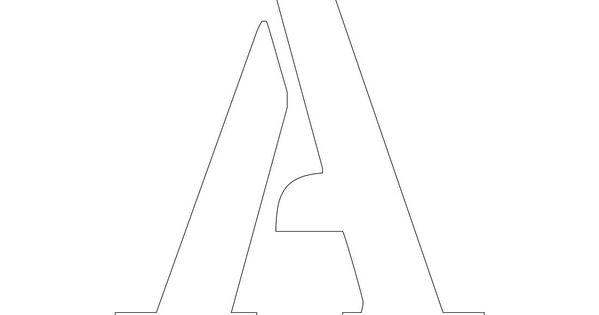 printable 3 inch letter stencil a