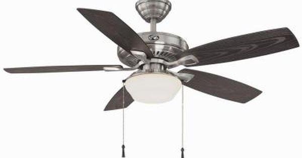 Hampton Bay Gazebo Ii 52 In Indoor Outdoor Brushed Nickel