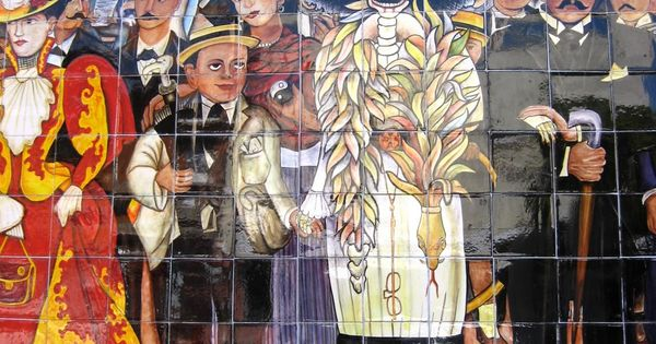 Diego rivera 39 s dream of a sunday afternoon in alameda park for Diego rivera day of the dead mural
