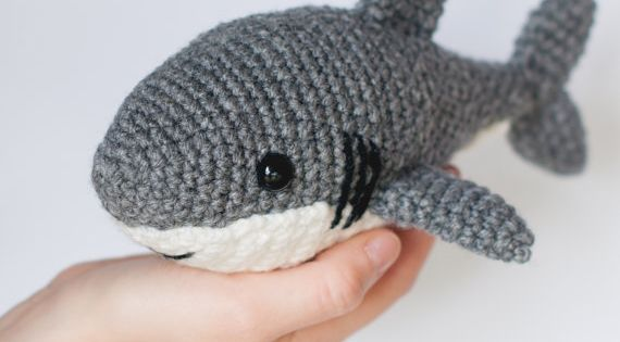 Crochet Shark Pattern Amigurumi Shark Pattern Crocheted