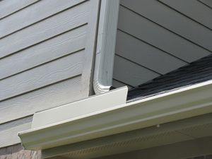 Gallery How To Install Gutters Splash Guard Home Upgrades
