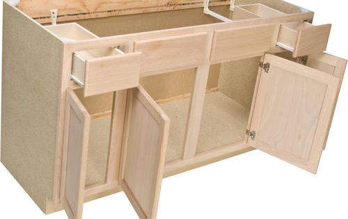 Best Quality One™ 60 X 34 1 2 Unfinished Oak Sink Base 400 x 300