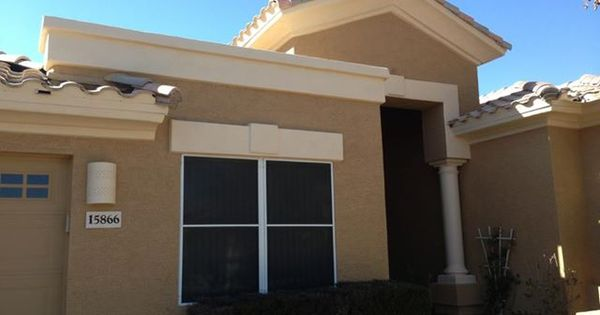 Exterior Of An Az Home Colors Tan Plan And Verona Beach