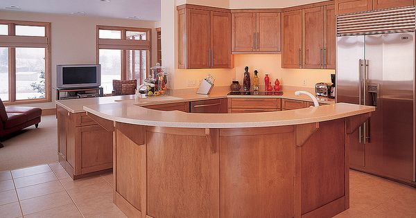 Curved counter kitchen ideas kitchen design pictures for Kitchen cabinets 999