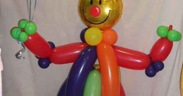 Payaso de globos en fiesta de cumplea os decoraci n con - Decoracion de navidad con globos ...
