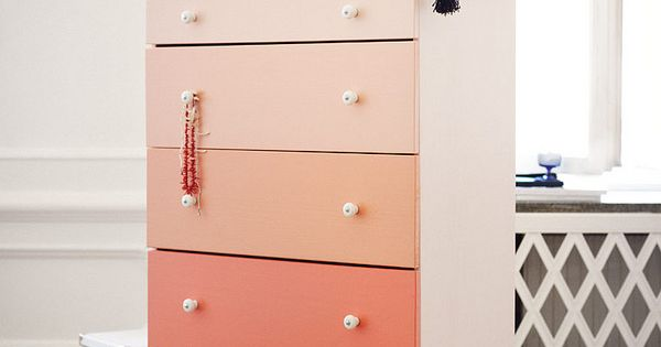 Ombre dresser Ikea hack. You could do this on any old dresser.