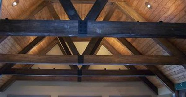 Faux Wood Beam Trusses And Tongue Amp Groove Ceiling Great