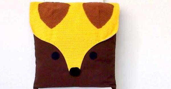 Crochet cushions, Fantastic fox and The fantastic on Pinterest