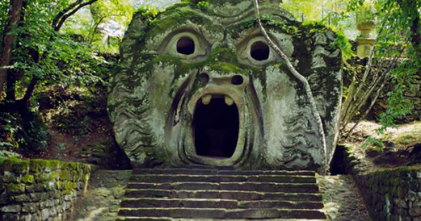 """Parco dei Mostri"" Monster Park near Rome, outside of the Castle of"