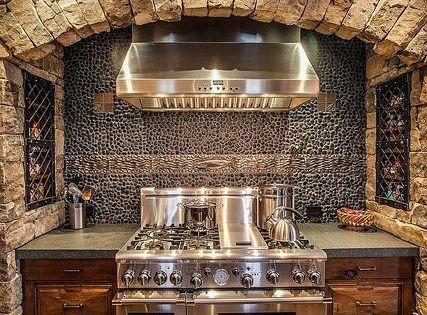 Stone Stove Surround Rustic Home Decor Make Mine Rustic